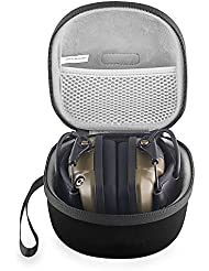 BOVKE EVA Shockproof Hard Case Carrying Travel Storage Bag for Howard Leight Impact Sport OD Electric Folding Earmuff Ear Muffs,Black