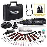Mini Amoladora Batería, Herramienta rotativa eléctrica sin cable, TECCPO 12V 2.0A,...