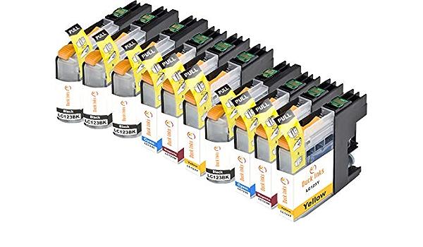 Duck Inks Compatible Brother Lc 123 Ink Cartridge Black Cyan Magenta Yellow Pack Of 10 Bürobedarf Schreibwaren