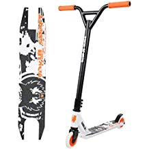 Vokul tg-6061 Pro Stunt Scooter Stunt – Patinete de aluminio ligero, Serio de adultos con alta calidad rueda de uretano (V-Naranja&Negro)