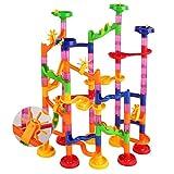 ALSGON Blocchi Costruttivi Pista per Biglie,Marble Runs Toy Set Building Blocks Set per Bambini di Oltre 3 Anni Come Regali