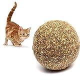 Romote 1 Cat Erba Giocattolo Gatto Menta Aroma Naturale di Palla Gatto spuntino Cibo per Gatti, impazzire Sughero Gatto Giocattolo Palla Giocattolo Sicuro e Sano da Mangiare