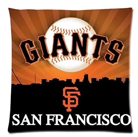 one side Polyester Rectangle Bed Pillow pillowcase with San Francisco Giants pattern standard size 18