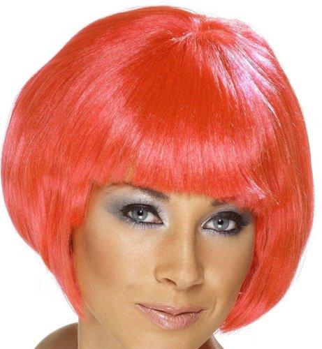 nk Pagenschnitt rote pinke Perrücke Damenperücke knallrot pinkrote Perücke für Damen Pagenschnitt rote rot Perrücke (Kurze Pinke Perücken)
