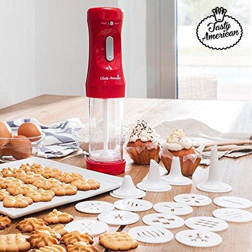 Appetitissime tasty american macchina per biscotti e accessori, rosso, 12x 26,5x 20cm