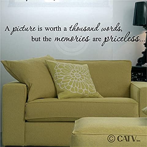 A picture is worth a thousand words, but the memories are priceless Vinyl Lettering Wall Sayings Art Sticker