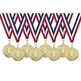 Medailles met lint kinderfeestje nummer 1-8 stuks - Ø 5cm - van metaal!