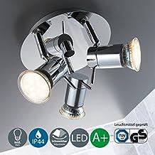 LED de lámpara de techo de baño/baño lámpara/lámpara de baño/baño lámpara de techo Foco/de/focos de techo lámpara de techo/IP44/contra salpicaduras de agua./cromo/blanco cálido