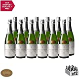 Crémant d'Alsace Blanc - Hubert Meyer - Vin effervescent AOC Blanc d' Alsace - Cépage Pinot Blanc - Lot de 12x75cl - Or Grand Concours des Vins d'Alsace - Colmar