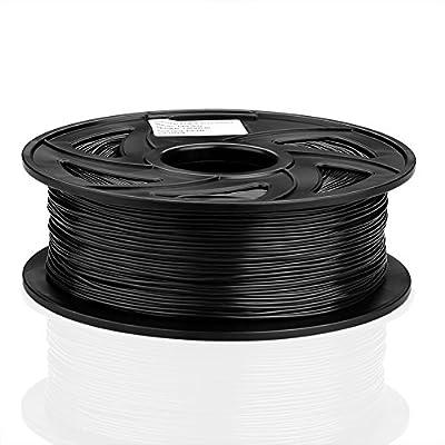 SIENOC 1 Packung 3D Drucker ABS 1.75mm Printer Filament - Mit Spule 1kg Schwarz
