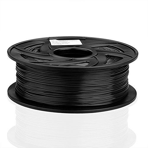 SIENOC 1 Packung 3D Drucker PLA 1.75mm Printer Filament - Mit Spule 1kg (Flexibel Schwarz)