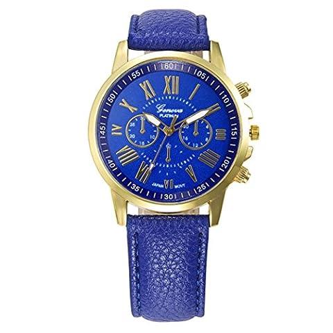 Frauen-Armbanduhr - Kingwo Neue Frauen Mode Genf Römische Ziffern Faux