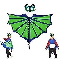 Kids Animal Capes Cloak Wings Felt Mask Dinosaur Costume Imitated Dinosaur Cape for Carnival, Halloween, Kids Animal Pretend Theme Party Fancy Dress