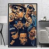 tgbhujk Poster Biggie Notorious 2PAC Jay-Z NWA Legende Sterne Collage Leinwand Ölgemälde Kunst Wandbilder Wohnzimmer…