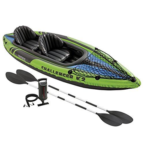 Intex - Kayak hinchable Challenger K2 y 2 remo - 351 x 76 x 38 cm (68306) (modelo variable según imagen)