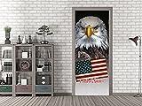 GRAZDesign Türfolie selbstklebend USA - Klebefolie Tür Bad Adler - Fototapete Tür Amerika - Türfolie tolles Motiv / 80x213cm / 791504_80x213