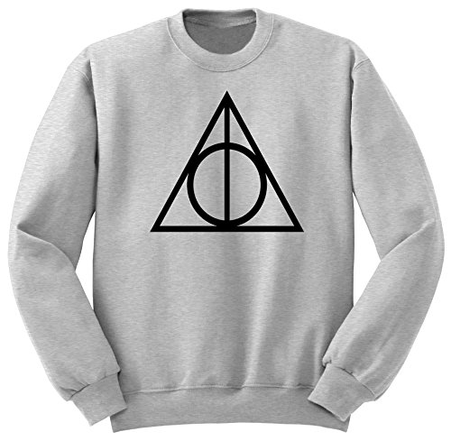 Harry Potter Deathly Hallow Sweat-Shirt, Harry Potter Quidditch Sweat-Shirt, Harry Potter Vetement SW40 Gris