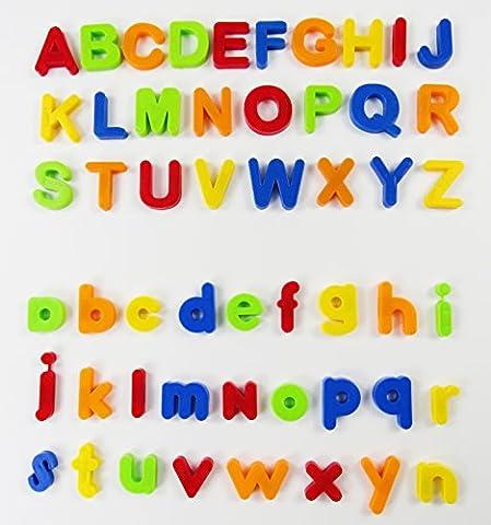80 pièces lettres et numéros d'apprentissage magnétiques, VicPow Jouets éducatifs pour petits enfants pour l'apprentissage préscolaire, l'orthographe, le
