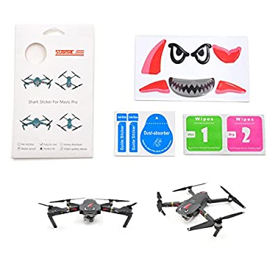 Waterproof Shark Stickers Skin for DJI Mavic Pro Drone