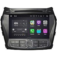 NFS 2 DIN 8 Pulgadas Coche Estéreo con GPS Navegación Android 7.1 OS para Hyundai Santa