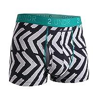 "2UNDR Mens Swing Shift 3"" Boxer Trunk Underwear (Tiki, Medium)"