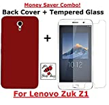 Shop Buzz Combo of Back Cover (Red) + Tempered Glass - Lenovo Zuk Z1 (Wine Red Back Cover and Tempered Glass Screen Protector For Lenovo Zuk 1)