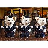 Aution House - Disfraces de Mascotas - El Policía , Marinero , Cowboy Uniforme para Fiesta , Navidad , Cumpleaños , Bodas , Desfiles , etc - Ropa Divertida para Perritos y Gatitos (L, Policía)