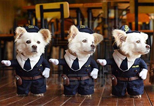 Imagen de aution house  disfraces de mascotas  el policía , marinero , cowboy uniforme para fiesta , navidad , cumpleaños , bodas , desfiles , etc  ropa divertida para perritos y gatitos m, policía