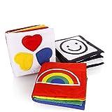 Descrizione:  Il set è costituito da 3 libri: Pieno di forme e disegni e modello in bianco e nero.  Materiali sicuri e leggeri, senza componenti vacanti e con finiture perfettamente sigillate, per permettere al tuo bambino di giocare in totale sic...