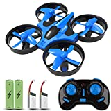 JoyGeek Mini Drone, RC Quadcopter con 2.4G 4CH 6 Axis modalità Headless, 360 ° UFO Mini Quadcopter Drone, Flip & Rolls Telecomando One Key Return Helicopter (Blu)