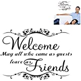 """Futaba """" Welcome"""" Inspirational Removable Wall Sticker"""