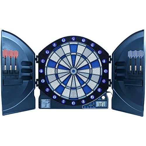 Best Sporting elektronische Dartscheibe CAMBRIDGE mit LED beleuchteten Ziffern, Dartautomat mit 6 Dartpfeilen, Dartboard mit Netzteil - 2