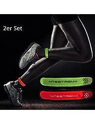 ZNEX LED Armband Leuchtarmband für Sport & Outdoor. Hell leuchtendes LED Jogging Licht Warnlicht Blinklicht für hohe Sichtbarkeit im Dunkeln. Perfektes Fahrrad Sicherheitslicht für Nachtfahrten