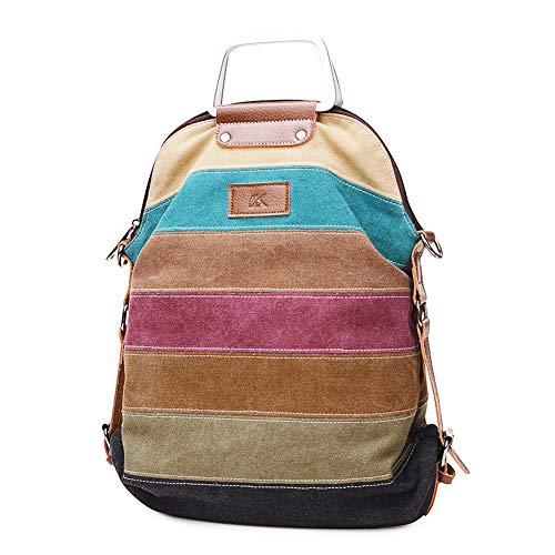 SNUG STAR-Mehrfarbengestreifte Segeltuch-Handtaschen-Kreuzkörper sollte Geldbeutel-Tasche Tote-Handtasche für Frauen (Frauen Sak Geldbörse)