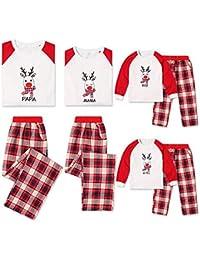 Ropa a Juego con la Familia, Bufanda Elk Niños Niñas Hombres Mujeres Navidad Navidad Pijamas