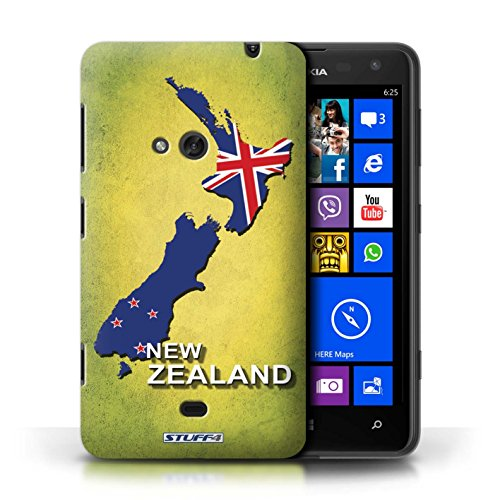 Kobalt® Imprimé Etui / Coque pour Nokia Lumia 625 / Afrique du Sud/Afrique conception / Série Drapeau Pays nouvelle Zélande