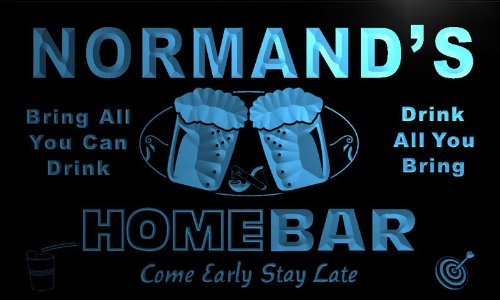 p916-b Normand's Home Bar Beer Family Last Name Neon Light Sign Barlicht Neonlicht Lichtwerbung - Normande Beleuchtung