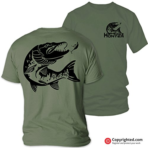 Pike Hunter Angel-T-Shirt, Large