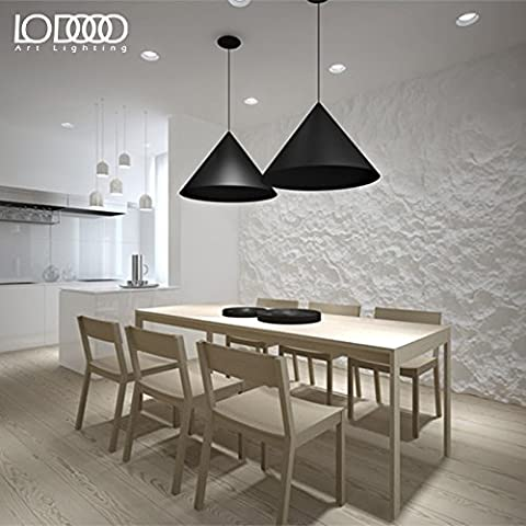 Lámpara Colgante moderno Los países nórdicos modernos candelabros de hierro forjado negro ,60*45cm lámpara