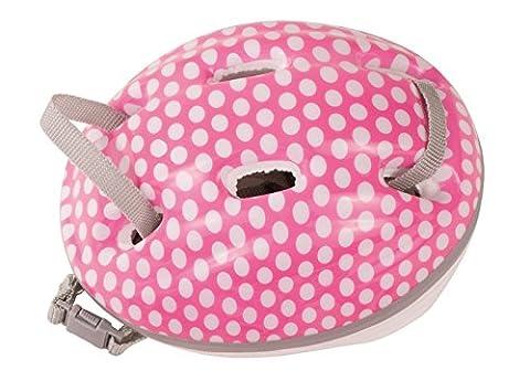 Götz 3402331 Fahrradhelm White Dots - Kletterhelm mit weißen Punkten für Puppen - tragbar für Stehpuppen von 45-50 cm und Babypuppen 42-46 (Fahrradhelme Günstig)
