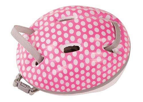 Götz 3402331 Fahrradhelm White Dots - Kletterhelm mit weißen Punkten für Puppen - tragbar für Stehpuppen von 45-50 cm und Babypuppen 42-46 cm