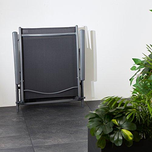 Ultranatura Aluminium Sonnenliege, Korfu Serie – Basic, grau - 7