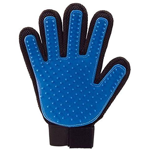 Lalang right hand Gant Magic Brosse de nettoyage pour animaux de compagnie, Bleu
