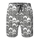 Fashion New Quick Dry Swimming Beach Shorts Herringbone Augusta Akerman Men er Beach Boardshorts,L