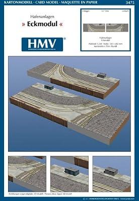 HMV 3475 Kartonmodell Hafenanlagen - Eckmodul von HMV - Hamburger Modellbaubogen Verlag