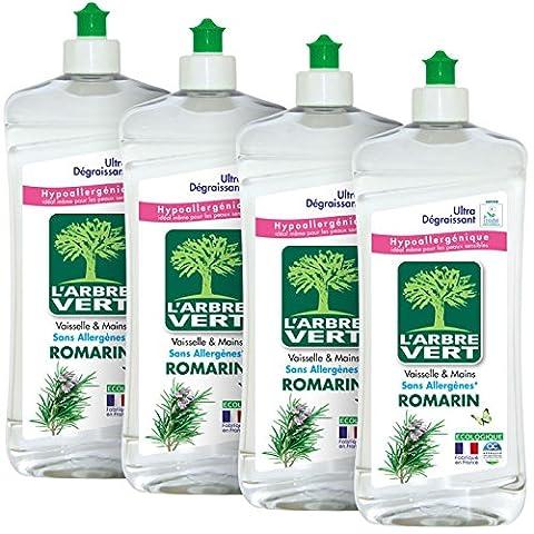 L'ARBRE VERT Liquide Vaisselle Main Romarin 750 ml - Lot