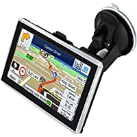 Car GPS Navigation 5 inch Car Truck Lorry Navigator 8GB Touchscreen Windows SAT NAV Windows Navigator Satellite Navigation System with HD SpeedCam POI MP3 Lifetime UK EU Maps