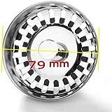 JZK® Couvercle de filtre évier cuisine, diamètre de 79 mm, en acier inoxydable