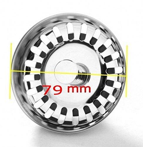 JZK 79 mm - Tappo filtro lavello scarico acciaio inox filtri per ...