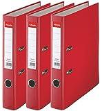 Esselte D50 Lot de 3 Essentials Classeur à levier Rouge